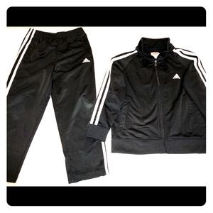 Adidas Kids Black Track Suit size5